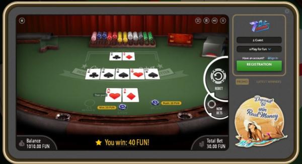 Bitcoin gambling website 7Bit Casino poker