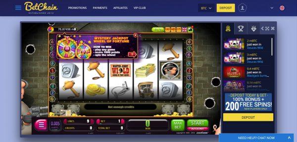 Bitcoin Casino Betchain Casino