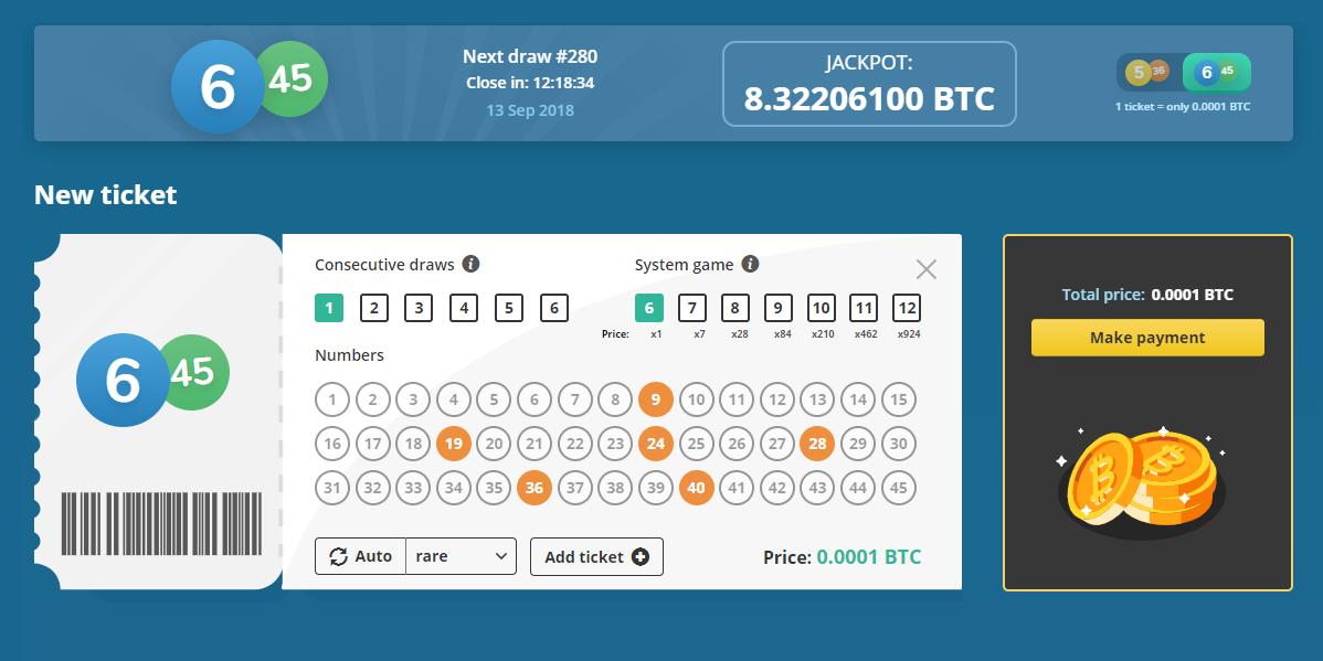 Bitcoin Lottery Bitplay Club New Ticket