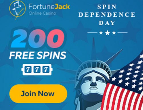 Independence day promotion: Free Spins for EVERY deposit!