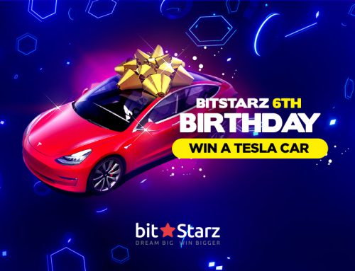 Celebrate BitStarz' Birthday and Win a Tesla Model 3!